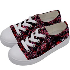 Amazing Glowing Flowers C Kids  Low Top Canvas Sneakers by MoreColorsinLife