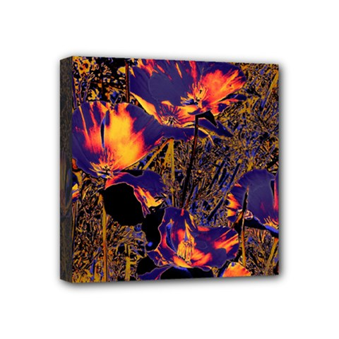 Amazing Glowing Flowers 2a Mini Canvas 4  X 4  by MoreColorsinLife