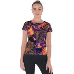Amazing Glowing Flowers 2a Short Sleeve Sports Top  by MoreColorsinLife