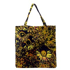 Amazing Neon Flowers B Grocery Tote Bag by MoreColorsinLife