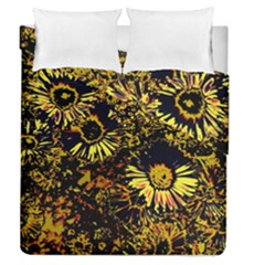 Amazing Neon Flowers B Duvet Cover Double Side (queen Size) by MoreColorsinLife