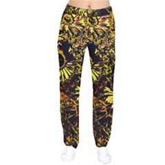 Amazing Neon Flowers B Drawstring Pants by MoreColorsinLife
