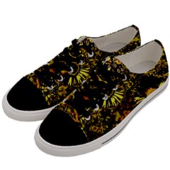 Amazing Neon Flowers B Men s Low Top Canvas Sneakers by MoreColorsinLife