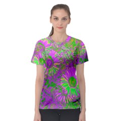 Amazing Neon Flowers A Women s Sport Mesh Tee by MoreColorsinLife