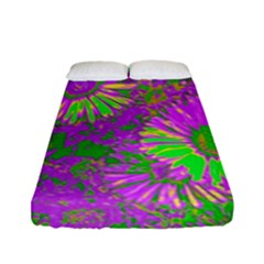 Amazing Neon Flowers A Fitted Sheet (full/ Double Size) by MoreColorsinLife