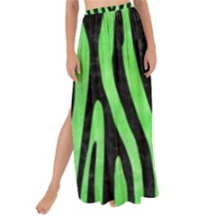 Skin4 Black Marble & Green Watercolor Maxi Chiffon Tie Up Sarong by trendistuff