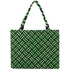 Woven2 Black Marble & Green Watercolor Mini Tote Bag by trendistuff