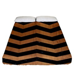 Chevron3 Black Marble & Light Maple Wood Fitted Sheet (king Size) by trendistuff