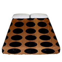 Circles1 Black Marble & Light Maple Wood (r) Fitted Sheet (king Size) by trendistuff