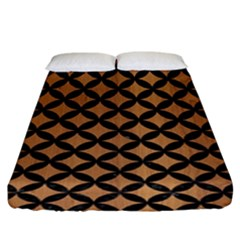 Circles3 Black Marble & Light Maple Wood (r) Fitted Sheet (king Size) by trendistuff