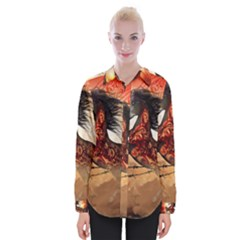 Awesome Creepy Running Horse With Skulls Womens Long Sleeve Shirt