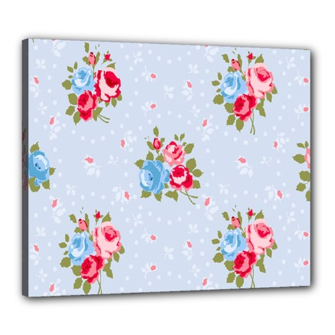 Cute Shabby Chic Floral Pattern Canvas 24  X 20  by 8fugoso