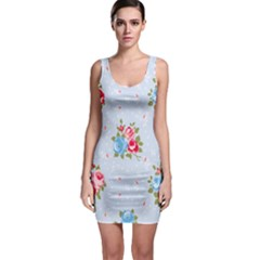 Cute Shabby Chic Floral Pattern Bodycon Dress by 8fugoso