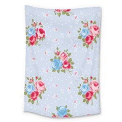 Cute Shabby Chic Floral Pattern Large Tapestry
