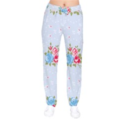Cute Shabby Chic Floral Pattern Drawstring Pants by 8fugoso