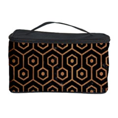 Hexagon1 Black Marble & Light Maple Wood Cosmetic Storage Case by trendistuff