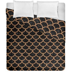 Scales1 Black Marble & Light Maple Wood Duvet Cover Double Side (california King Size) by trendistuff