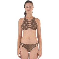 Scales2 Black Marble & Light Maple Wood (r) Perfectly Cut Out Bikini Set