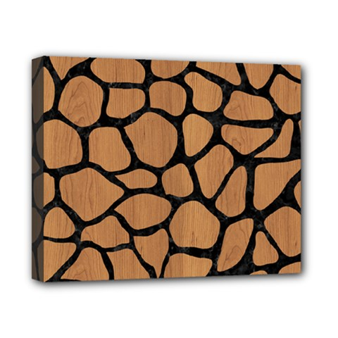 Skin1 Black Marble & Light Maple Wood Canvas 10  X 8  by trendistuff