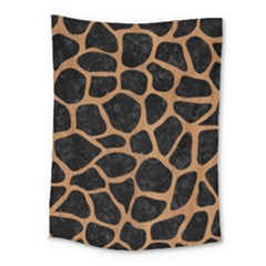 Skin1 Black Marble & Light Maple Wood (r) Medium Tapestry by trendistuff