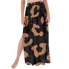 Skin5 Black Marble & Light Maple Wood (r) Maxi Chiffon Tie Up Sarong