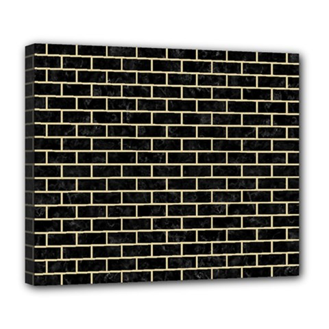 Brick1 Black Marble & Light Sand Deluxe Canvas 24  X 20   by trendistuff