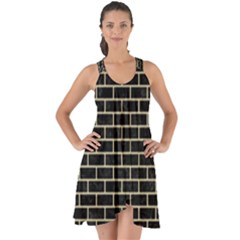 Brick1 Black Marble & Light Sand Show Some Back Chiffon Dress by trendistuff