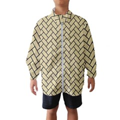 Brick2 Black Marble & Light Sand (r) Wind Breaker (kids) by trendistuff