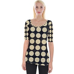 Circles1 Black Marble & Light Sand Wide Neckline Tee by trendistuff