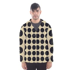 Circles1 Black Marble & Light Sand (r) Hooded Wind Breaker (men) by trendistuff