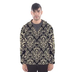 Damask1 Black Marble & Light Sand Hooded Wind Breaker (men) by trendistuff