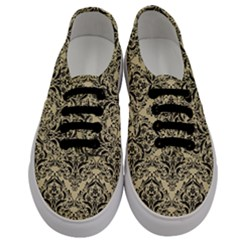Damask1 Black Marble & Light Sand (r) Men s Classic Low Top Sneakers
