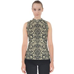 Damask2 Black Marble & Light Sand (r) Shell Top by trendistuff