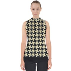 Houndstooth1 Black Marble & Light Sand Shell Top by trendistuff