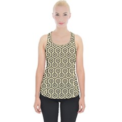 Hexagon1 Black Marble & Light Sand (r) Piece Up Tank Top by trendistuff