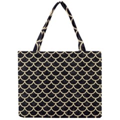 Scales1 Black Marble & Light Sand Mini Tote Bag by trendistuff
