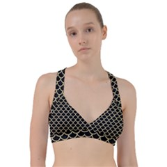 Scales1 Black Marble & Light Sand Sweetheart Sports Bra
