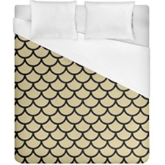 Scales1 Black Marble & Light Sand (r) Duvet Cover (california King Size) by trendistuff