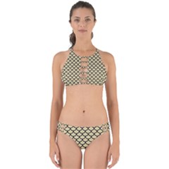Scales1 Black Marble & Light Sand (r) Perfectly Cut Out Bikini Set