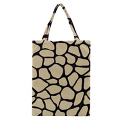 Skin1 Black Marble & Light Sand Classic Tote Bag by trendistuff