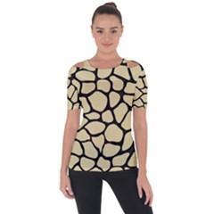 Skin1 Black Marble & Light Sand Short Sleeve Top by trendistuff