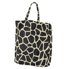 Skin1 Black Marble & Light Sand (r) Giant Grocery Zipper Tote by trendistuff