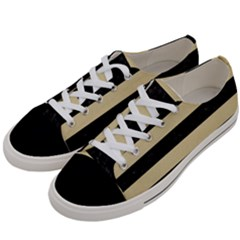 Stripes2 Black Marble & Light Sand Women s Low Top Canvas Sneakers by trendistuff