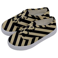 Stripes3 Black Marble & Light Sand (r) Kids  Classic Low Top Sneakers by trendistuff
