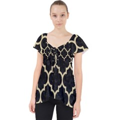 Tile1 Black Marble & Light Sand Lace Front Dolly Top by trendistuff