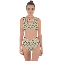 Tile1 Black Marble & Light Sand (r) Bandaged Up Bikini Set