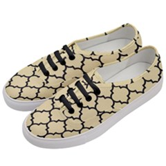 Tile1 Black Marble & Light Sand (r) Women s Classic Low Top Sneakers by trendistuff