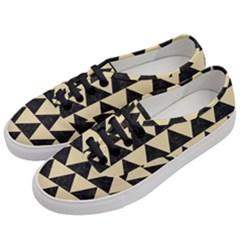Triangle2 Black Marble & Light Sand Women s Classic Low Top Sneakers by trendistuff
