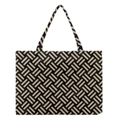 Woven2 Black Marble & Light Sand Medium Tote Bag by trendistuff
