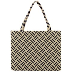 Woven2 Black Marble & Light Sand (r) Mini Tote Bag by trendistuff